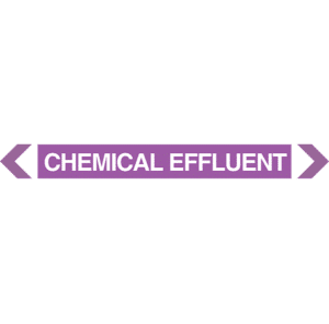 Chemical Effluent Pipe Marker