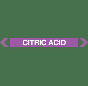 Citric Acid Pipe Marker