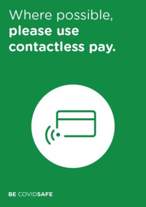 CovidSafe Contactless Pay Sign