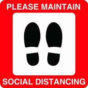 Please Maintain Social Distancing Signs