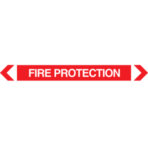 Fire Protection Pipe Marker