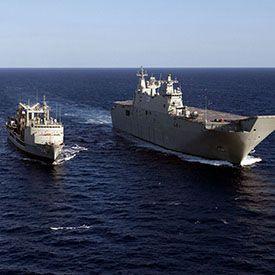 Wayout's Photoluminescent evacuation system on the LHD Defence frigates