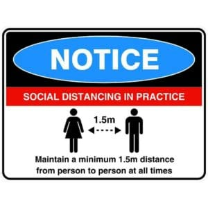Notice Social Distancing v2 Sign