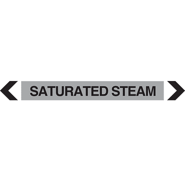 Saturated Steam Pipe Marker