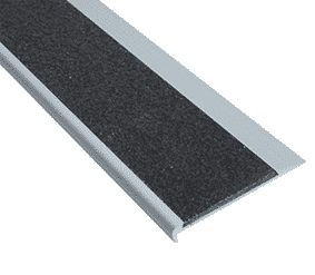 Aluminium stair nosing with silicon carbide insert- ST3