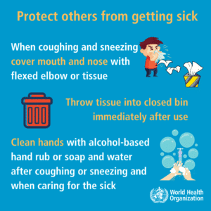 WHO Protect others from getting sick sign 3