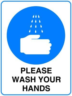 Mandatory Please Wash Your Hands Sign