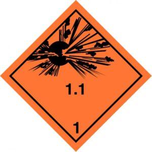 Class 1 Explosive substance Div 1.1 - Optional group