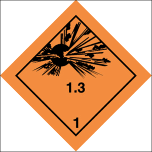 Class 1 Explosive substance Div 1.3 - Optional group
