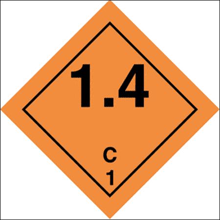 Class 1 Explosive substance, Div 1.4 - group C