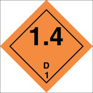 Class 1 Explosive substance, Div 1.4 - group D