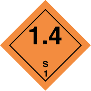 Class 1 Explosive substance, Div 1.4 - group S
