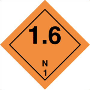 Class 1 Explosive substance, Div 1.6- group N