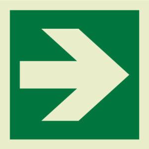 Directional arrow IMO Sign
