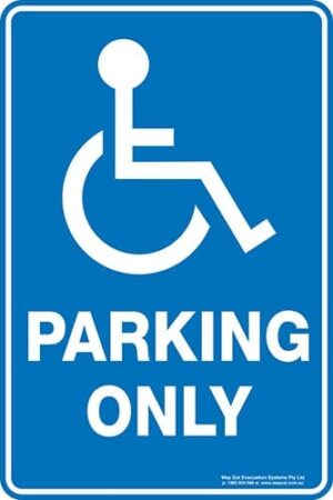 Carpark Disabled Parking Only