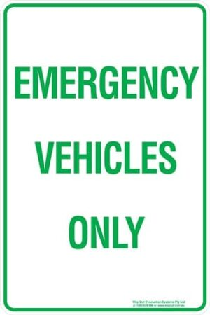 Carpark Emergency Vehicles Only