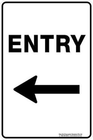 Carpark Entry Arrow Left