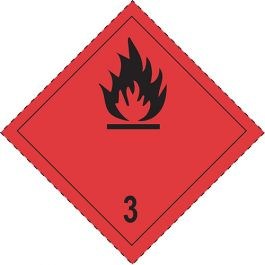Flammable gases sign