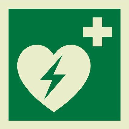 Defibrillator symbol sign