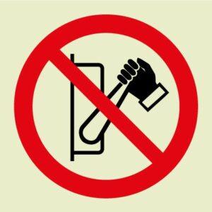 Do not operate symbol