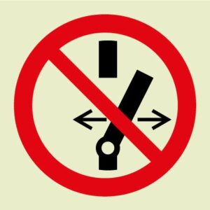 Do not switch on off symbol