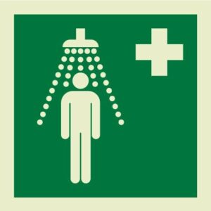 Emergency shower IMO Sign
