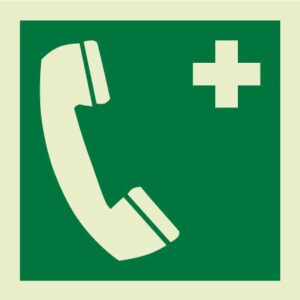 Emergency telephone IMO Sign