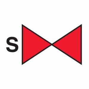 Sprinkler section valve IMO Sign