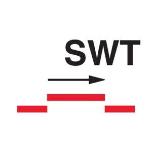 A class self closing semi-watertight sliding fire door sign