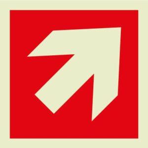 Fire arrow diagonal Sign