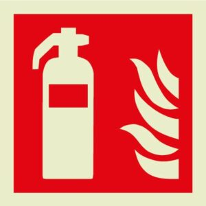 Fire extinguisher IMO Sign