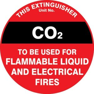 Fire Extinguisher ID Marker CO2