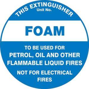 Fire Extinguisher Id Marker Foam