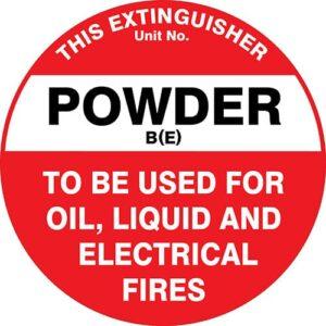 Fire Extinguisher Id Marker Powder Be