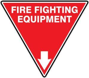 Fire Extinguisher Id Marker Tri Fire Fighting Equipment