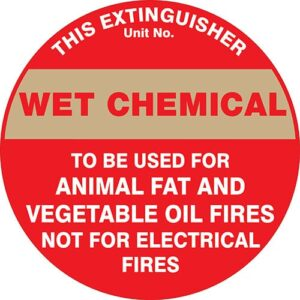 Fire Extinguisher Id Marker Wet Chemical