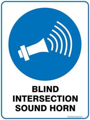 Mandatory Blind Intersection Sound Horn