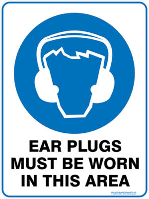 Mandatory Ear Plugs Must Be Worn In This Area