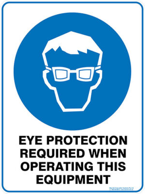 Mandatory Eye Protection Required When Operating This Equipment