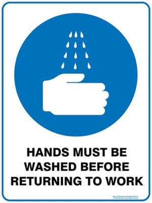 Mandatory Hands Must Be Washed Before Returning To Work