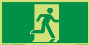 Running Man Exit 24M Luminous Sign