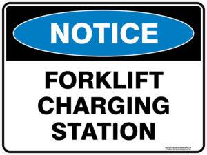 Notice Forklift Charging Station