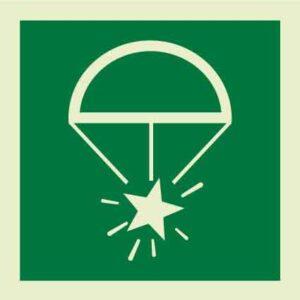 Rocket parachute flares IMO Sign