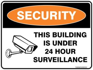 Security This Building Is Under 24 Hour Surveillance Sign