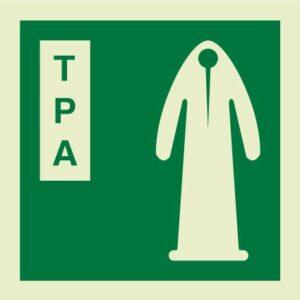Thermal protective aid IMO Sign
